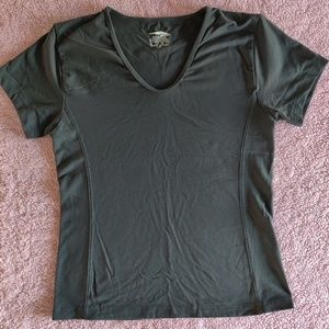 Avia Gray Athletic Work Out Gym Top Large